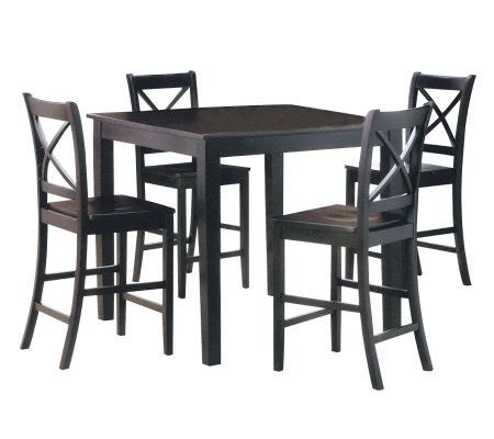 martha 5 counter height dining set by acme furniture