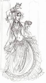 Drawings Coloring Dance Dancer Uploaded Marianne Thai Servicos Belly sketch template
