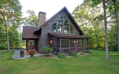 cabin homes deacon s lodge cabins minnesota golf vacations breezy