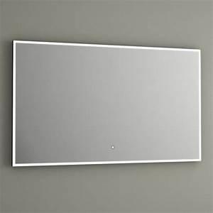 miroir lumineux led salle de bain anti buee 100x60 cm With miroir led anti buée