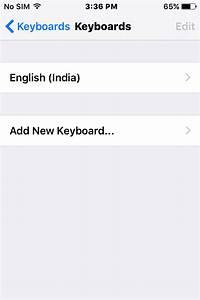 Open Keyboard's settings screen in iOS's settings app ...