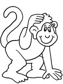 HD wallpapers monkey coloring page free