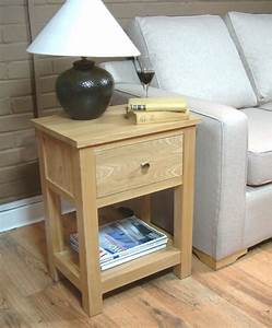 Mobel Oak One Drawer Lamp Table Lamp Tables Furn On