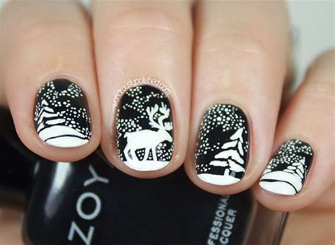 15+ Reindeer Nail Art Designs, Ideas & Stickers 2015