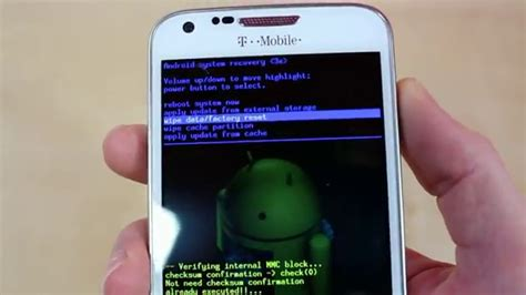 wipe android phone how to restore the factory default settings on android device