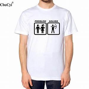 Cooles T Shirt : funny t shirts problem solved archery men 39 s cartoon ~ A.2002-acura-tl-radio.info Haus und Dekorationen