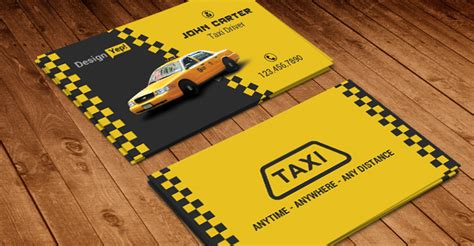 taxi cab business card template psd designyep