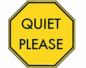 Quiet Please Sign - ClipArt Best