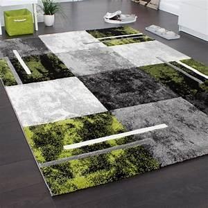 Teppich Grün Grau : designer teppich modern mit konturenschnitt karo muster grau schwarz gr n alle teppiche ~ Markanthonyermac.com Haus und Dekorationen