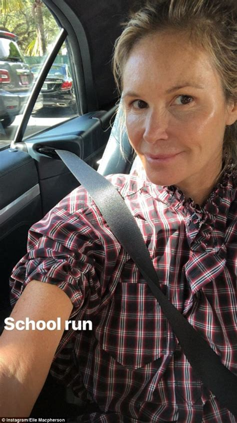 Elle Macpherson Shares Completely Makeup Free