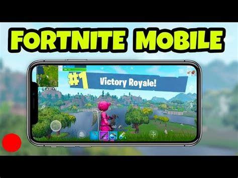 fortnite mobile gameplay  mobile fortnite player