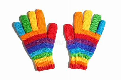 Gloves Rainbow Pair Colored Vibrantly Harder Tri