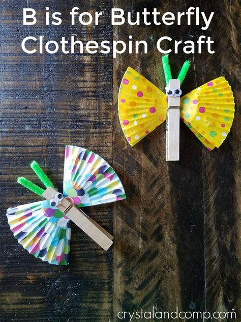 butterfly clothespin craft  preschoolers