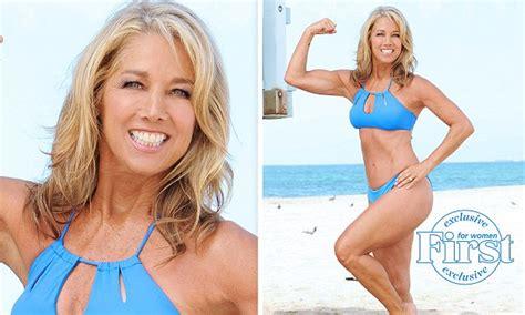 Denise Austin shows off her slimline bikini body at 61