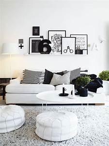 black white room decorating idea decoseecom With black and white living room decor