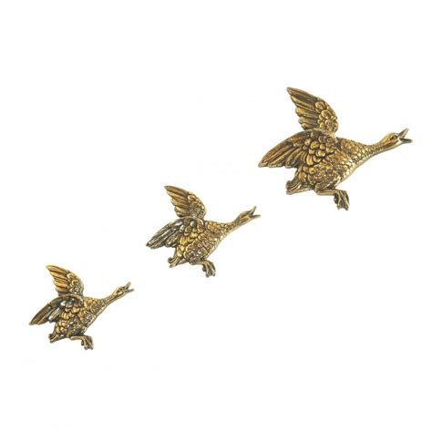 3 light pendant bronze set of 3 hilda ogden flying ducks wall in bronze finish