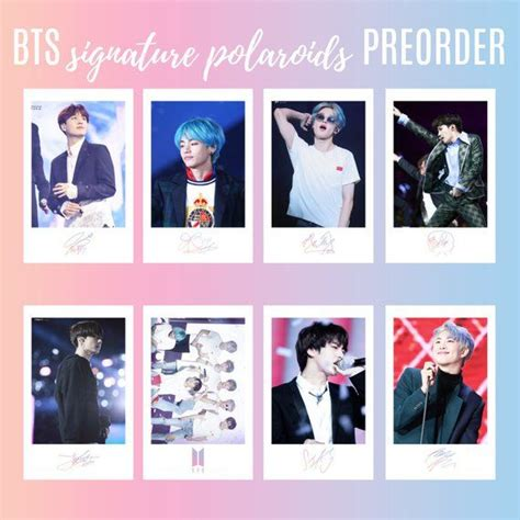 limited edition preorder bts polaroids photocards