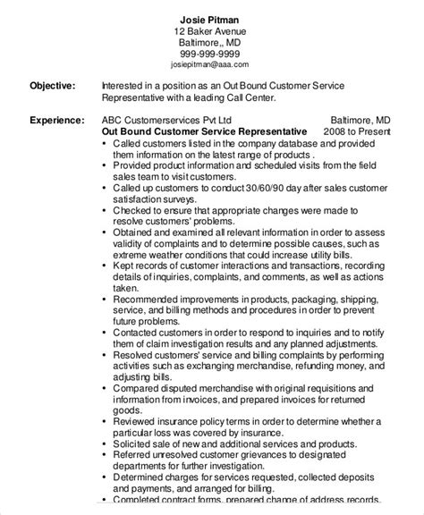 customer service representative resume sle 100 images