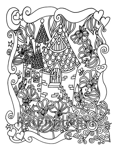 5 pages happyville coloring pack 5 5 adult coloring book