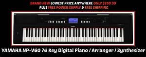 Yamaha Np V60 : yamaha np v60 digital piano arranger synthesizer 76 keys ~ Jslefanu.com Haus und Dekorationen