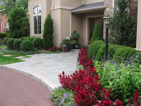 front entrance landscape design ideas landscaping ideas by nj custom pool backyard design expert