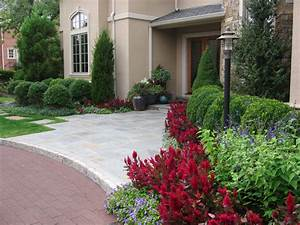 Landscaping ideas by nj custom pool backyard design expert for Front entrance landscaping ideas
