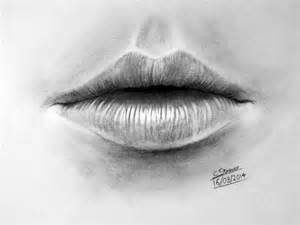 Realistic Mouth Pencil Drawing