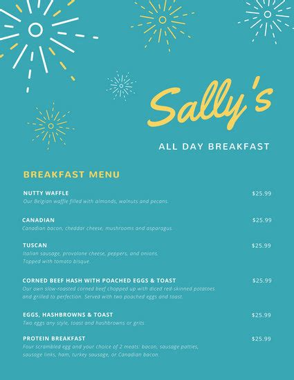 Claim now to immediately update business information and menu! Modern Continental Breakfast Menu - Templates by Canva