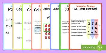 Subtraction Strategy Posters  Subtraction, Strategy, Posters