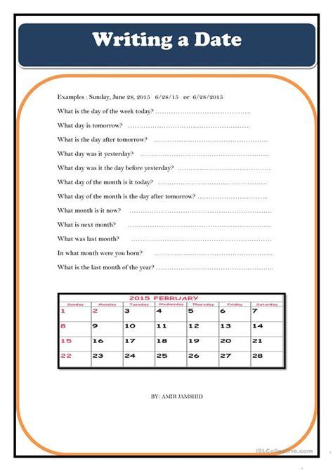 Writing A Date Worksheet  Free Esl Printable Worksheets Made By Teachers