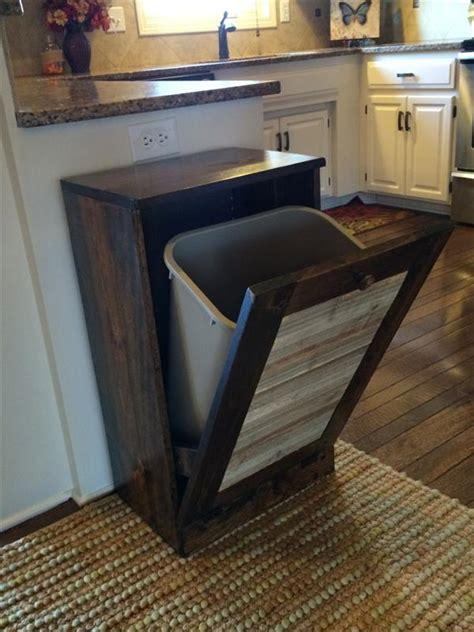 kitchen bin ideas pallet kitchen trash bin pallet furniture plans