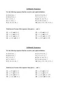 geometric and arithmetic sequences worksheet fioradesignstudio - Arithmetic And Geometric Sequence Worksheet