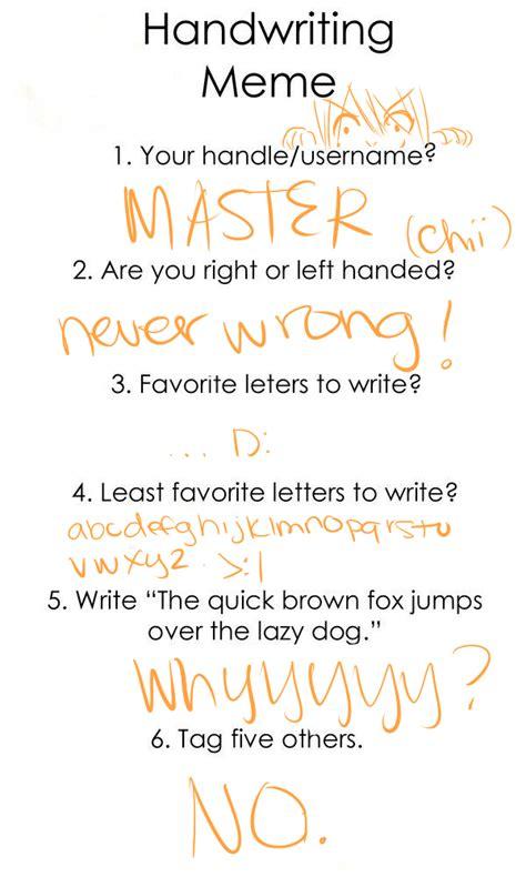 Handwriting Meme - handwriting meme by starchiishio on deviantart