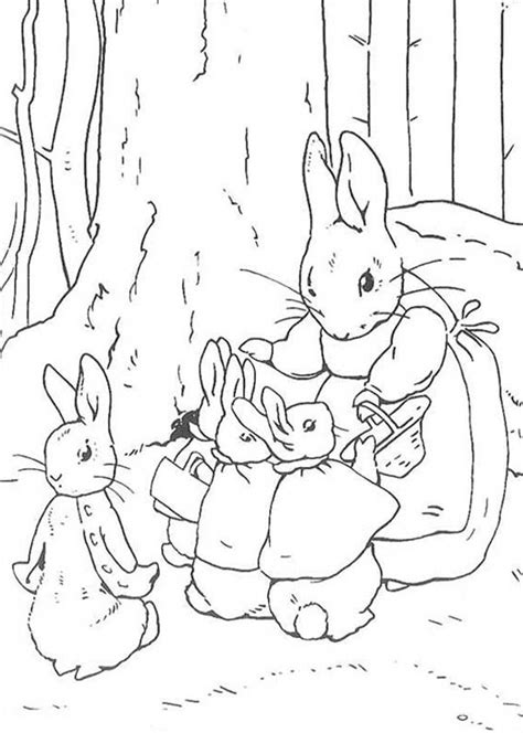 peter rabbit mother told peter rabbit sister  shop coloring page coloring sky