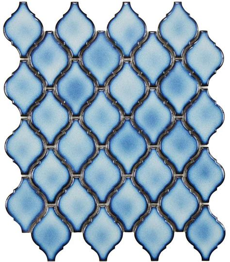 blue arabesque tile earthy and colorful 1970s style wall and floor tile pretty affordable at home depot retro