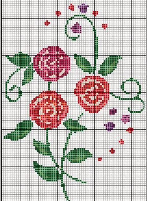 schemi punto croce fiori piccoli hobby lavori femminili ricamo uncinetto maglia