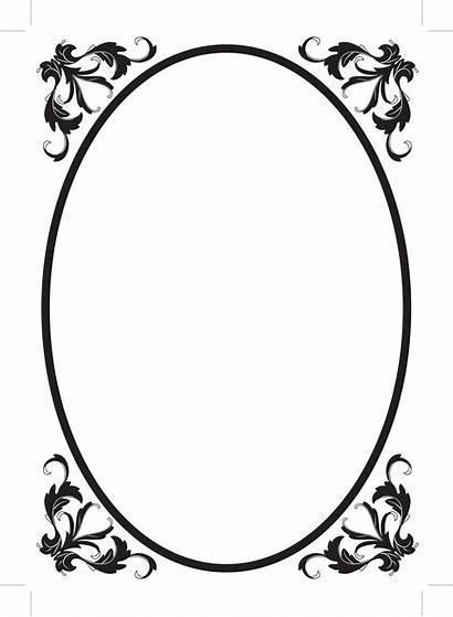 Border Clipart Frame Borders Elegant Clip Oval