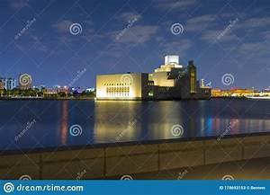 Night, Scene, Of, The, Museum, Of, Islamic, Art, In, Doha