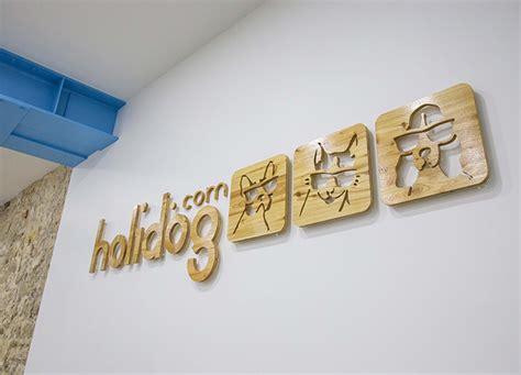 logo le de bureau logo en bois personnalisé pour bureau 3d logo mural