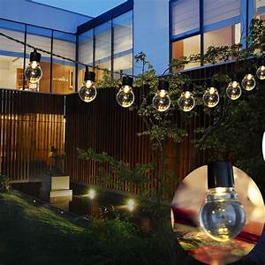 Solar, String, Lights, Outdoor, Patio, Party, Home, Yard, Garden, 10, Led, Waterproof, Bulbs