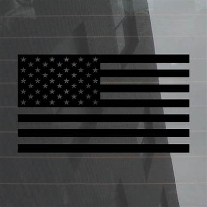 Subdued Flag American Decals Flags Thin Line