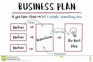 Business Plan Strategy Diagram Concept Stock Illustration
