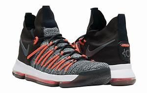 Nike KD 9 Elite Black White Dark Grey Hyper Orange Release ...