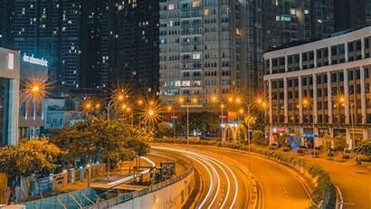 Night Road Exposure Lights 4k Uhd Laptop