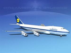 Boeing 747-100 Lufthansa 3D Model rigged max obj 3ds