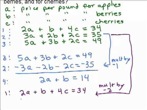 systems of equations with 3 variables word problems worksheet system of 3 equations word problem 1 youtube