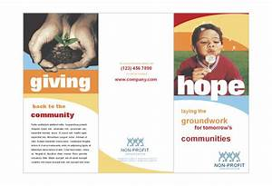 Community non profit print template pack from serifcom for Non profit brochure template
