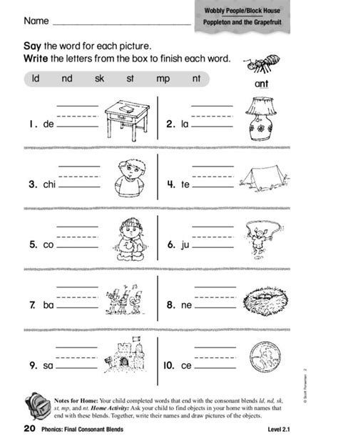 ending consonant blends worksheets free worksheets library