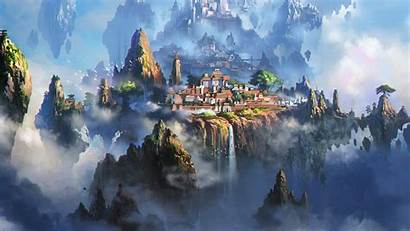 Anime Fantasy Town Cloud Illustration Wallpapers Xing