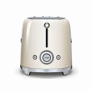 Smeg Toaster Creme : smeg 50 39 s retro style aesthetic 2 slice toaster cream ~ A.2002-acura-tl-radio.info Haus und Dekorationen